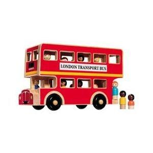 Fair Trade Wooden London Passenger Bus by Lanka Kade