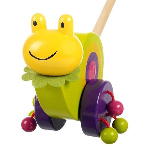 Wooden Snail Push Along by Orange Tree Toys