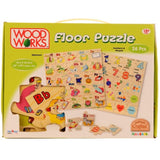 Wooden Numbers/Shape Floor Puzzle by Woodworks