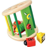 Eco Friendly Wooden Waggy Garden Shape Sorter by Wonderworld