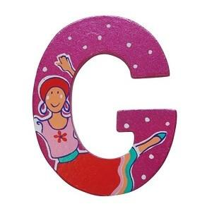 Pink Wooden Fairytale Letter - G