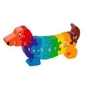 Fair Trade 1-10 Dog Jigsaw by Lanka Kade