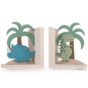 Dinosaur Wooden Decorative Bookends