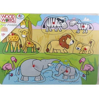 Peg Jungle Animals Jigsaw Puzzle by Woodworks