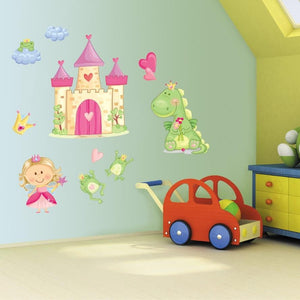 Girls Bedroom Pink Princess Wall Art Stickers