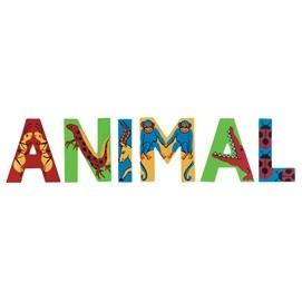 Colourful Wooden Animal Letter - D