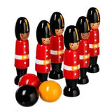 Fair Trade Wooden London Soldier Skittles by Lanka Kade
