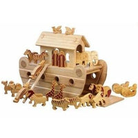 Fair Trade Large Natural Deluxe Noah's Ark with Animals