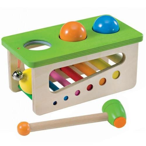 Battino Wooden Ball Pound Toy