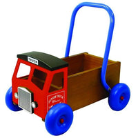 Wooden Truck Baby Walker in Red by Great Gizmos