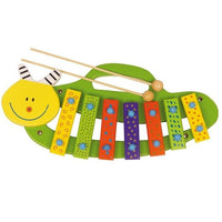 Wooden Caterpillar Musical Xylophone