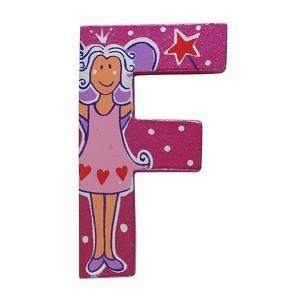 Pink Wooden Fairytale Letter - F
