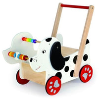 Wooden Dalmation Dog Baby Walker by Viga