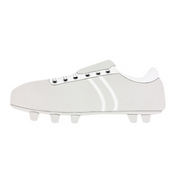 Fair Trade Long Silver Football Boot Name Plaque (with up to 7 Wooden FAIRYTALE Letters)