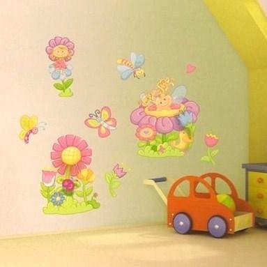 Childrens Bedroom Flower Fairy Wall Art Stickers