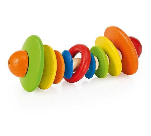 Wooden Grasping Rattle Tondelli by Selecta
