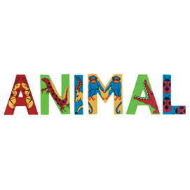 Colourful Wooden Animal Letter - M