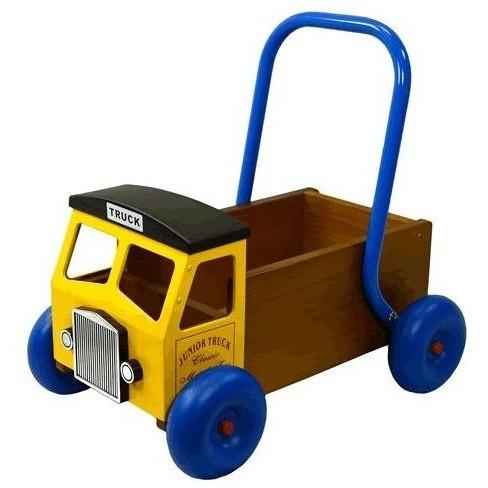 Wooden Truck Baby Walker in Yellow by Great Gizmos