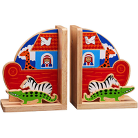 Fair Trade Noahs Ark Natural Wooden Bookends by Lanka Kade