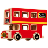Fair Trade Junior Wooden Toy London Passenger Bus