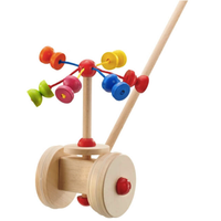 Merry Go Round Carousel Wooden Push Along Toy by Selecta