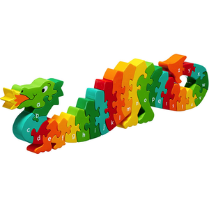 Fair Trade A-Z Dragon Alphabet Jigsaw by Lanka Kade