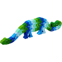 Fair Trade Blue 1-25 Dinosaur Jigsaw by Lanka Kade