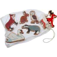 Fair Trade Bag of 6x Woodland Animals Play Set