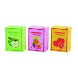 Set of 3 Wooden Juice Cartons