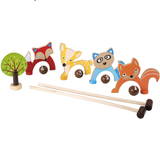 Woodland Animals Natural Wooden Croquet Game