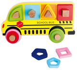 School Bus Wooden Shape Sorter Jigsaw Puzzle