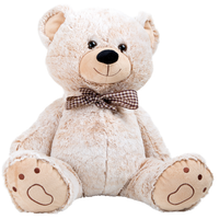 Supersize Teddy Bear with Gingham Bow - Plush Soft Baby Toys