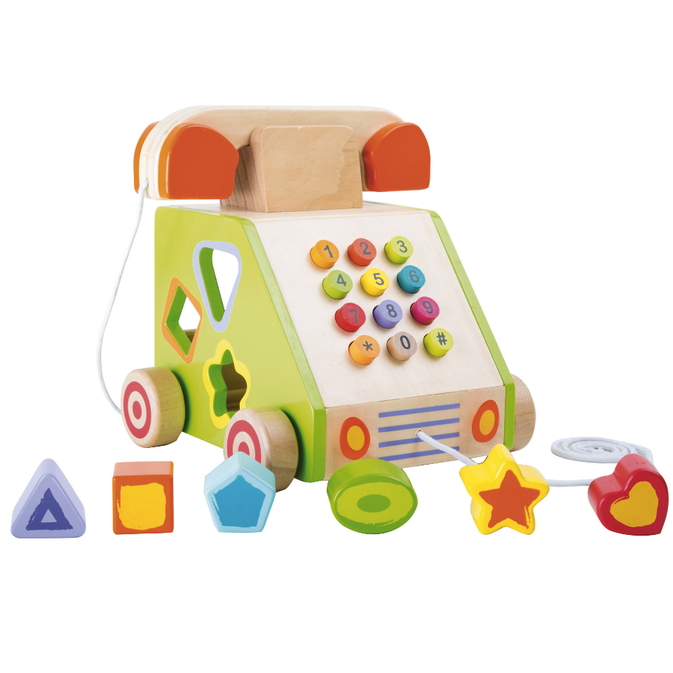 Wooden Telephone Shape Sorter