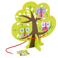 Lightweight Wooden Owl Threading Tree