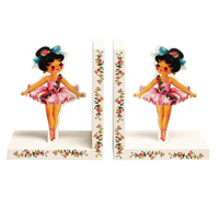 Shabby Chic Mini Ballerina Decorative Bookends