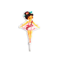 Shabby Chic Ballerina 1x Single Coat Hook