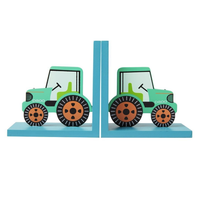 Tractor Wooden Decorative Bookends