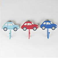 Childrens Set of 3 Modern Car Coat Clothes Hooks