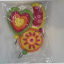 Wooden Set of 3 Heart & Flower Coat Hooks
