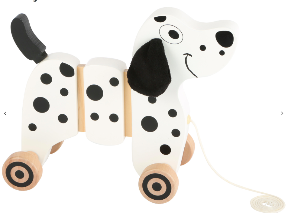 Wooden String Pull Along Dalmation Dog