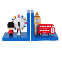 Childrens London Bus Wooden Bookends by Tinkie Toys