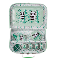Childrens Panda Picnic Box Tea Set