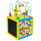 Wooden Activity Cube - Garden Theme