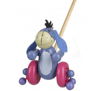 Wooden Push-Along Eeyore from Winnie the Pooh 12 months +