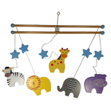 Wooden Safari Animals Mobile by Tinkie Toys