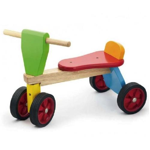Colourful Wooden Ride On Tricycle Trike
