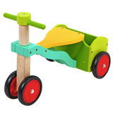 Large Wooden Kids Tricycle-Trike with Trunk