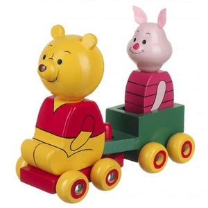 Mini Wooden Winnie the Pooh First Cart Train Toy 12 months +