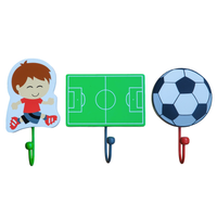 xxx JUST ARRIVED xxx Set of 3 Football Coat Hooks by Tinkie Toys