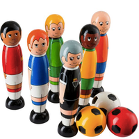 Fair Trade Wooden Football Skittles